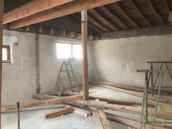 Abstützen der Deckenkonstruktion
