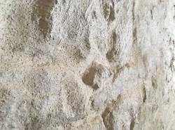 Basaltsteine übergeputzt