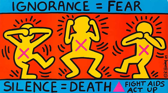 Keith Haring Ignorance equals fear.jpg