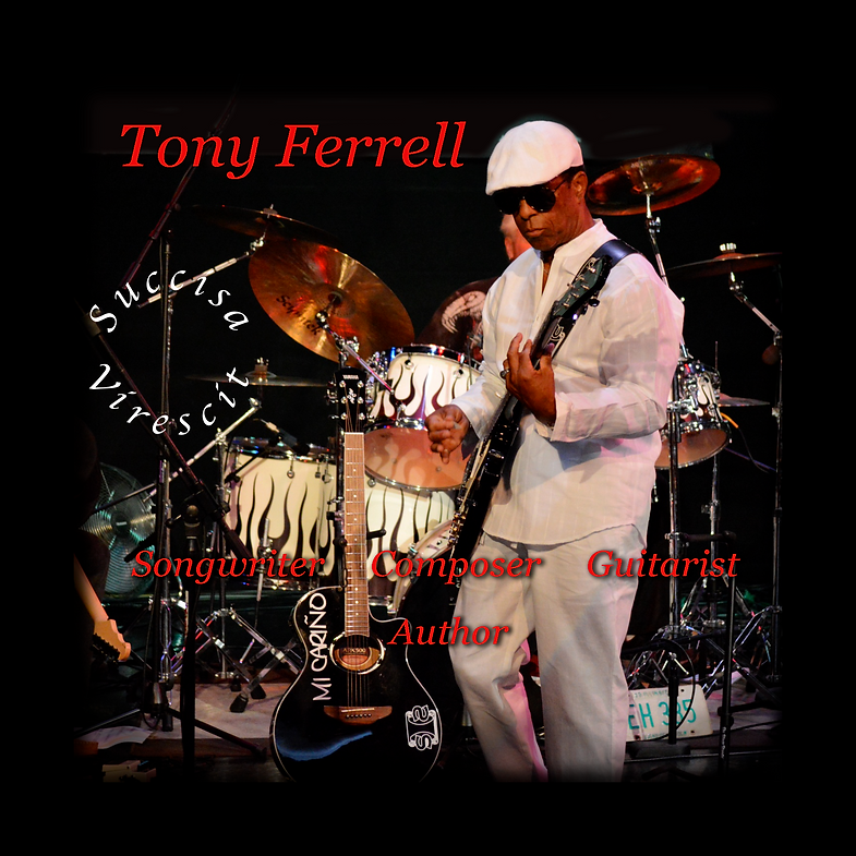 tony ferrell on stage with band