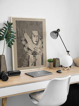 Picture Frame on Desk Mockup.png