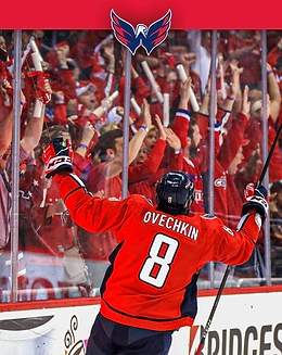 Alexander Ovechkin and Fans Celebrate
