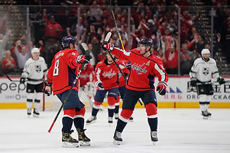 Ovechkin and Backstrom Celebrate goal
