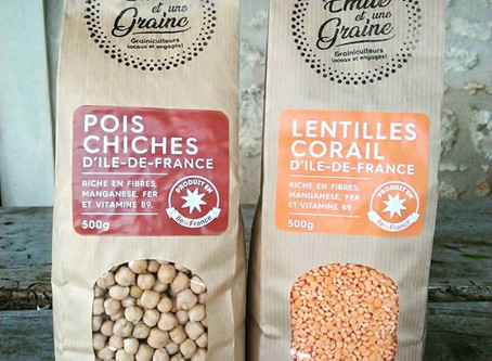 Pois Chiches et Lentilles Corail déjà disponibles!