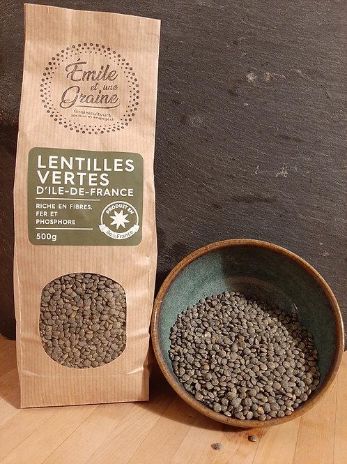Lentilles vertes d'Ile de France