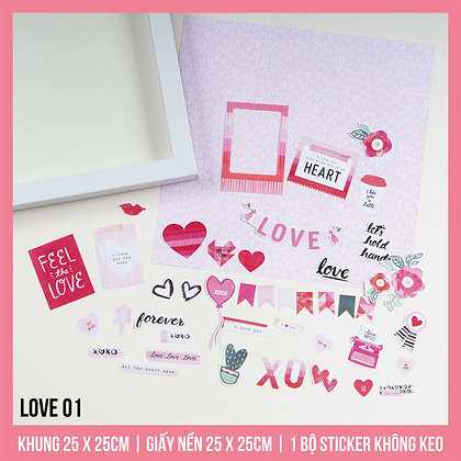 Set Khung Scrapbook Love 01
