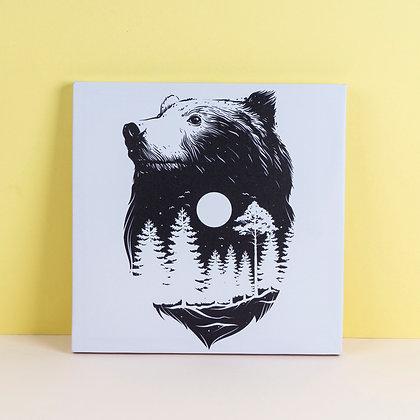 Tranh Canvas Bear wild life