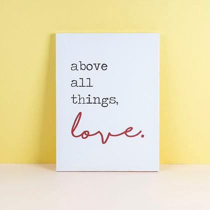 Tranh Canvas All About Things Love