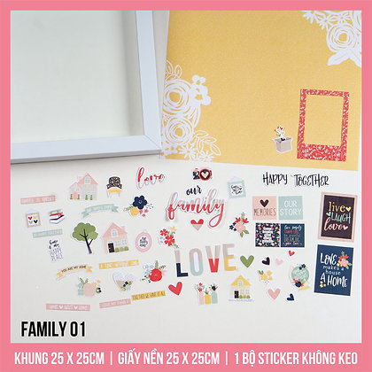 Set Khung Scrapbook Family 01