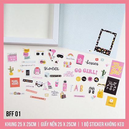 Set Khung Scrapbook BFF 01