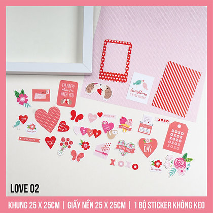 Set Khung Scrapbook Love 02