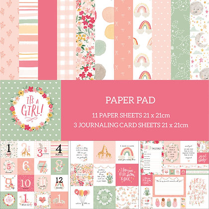 It's A Girl Paper pad