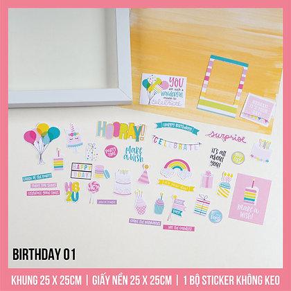 Set Khung Scrapbook Birthday 01