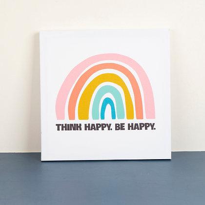 Tranh Canvas Think Happy Rainbow