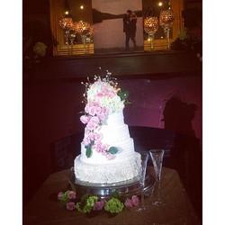 Wonderful cake _spotting_ for _jessi_baldwin and John today. I'm always glad to provide LED spotligh