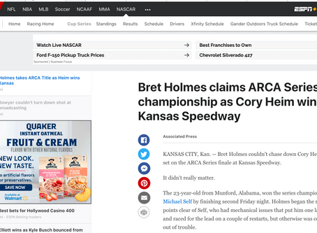 Bret Holmes claims ARCA Series championship, ESPN & Auburn have something to say about it...