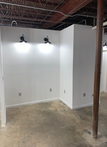 LED lighting plus concrete floors
