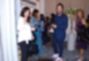 Antonio Riva durante l'inaugurazione Atelier Corso Mazzini lab Sposa