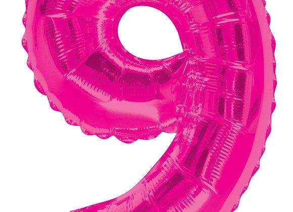 """34"""" SC Number 9 Pink Shape - Single Pack"""