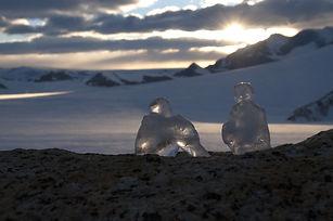 lespassagers. sculpture glace antarctique projet penelope