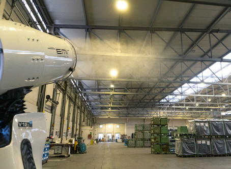Workshop and warehouse disinfection