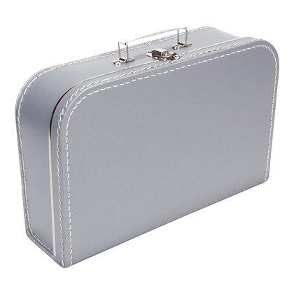 Koffertje met naam 35 cm - ZILVER