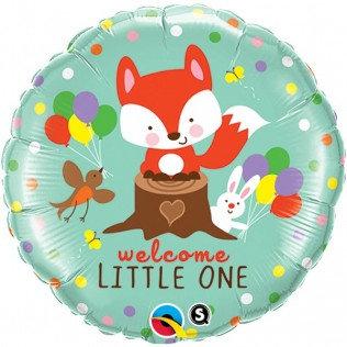 Folieballon welcome little one FOX - 45cm