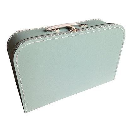 Koffertje met naam 35 cm - MINTGROEN