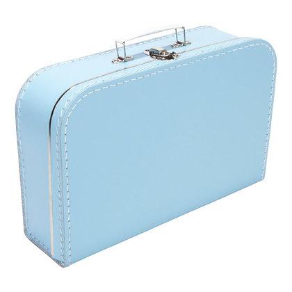 Koffertje met naam 35 cm - LICHTBLAUW