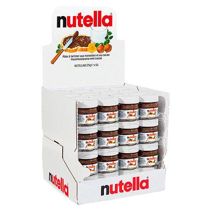 Display met 64 potjes Nutella 25 gram