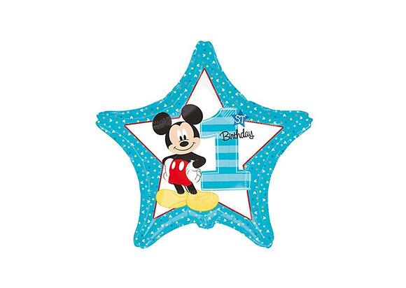 Mickey - 1st Birthday - Star - 19 inch/ 48cm - Anagram