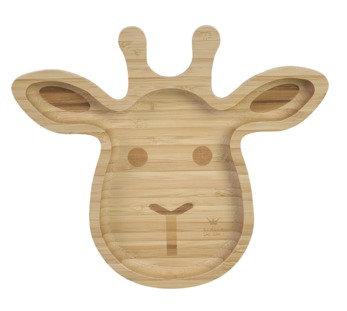 BamBam - Bamboo Giraf bord - 23 cm - Organic - Because we care
