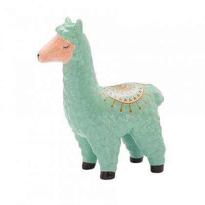 Spaarpot Lama - groen