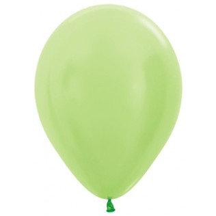Ballon Satin pearl lime green - 30 cm