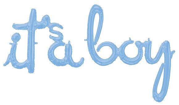 Folieballon script - It's a Boy
