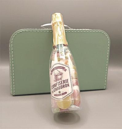 Cadeauset -Koffertje met champagnefles met snoepjesmix