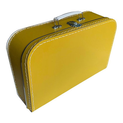 Koffertje met naam 35 cm - OKERGEEL