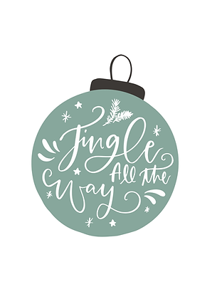 Kerstkaart Jingle All the Way (10x15cm)