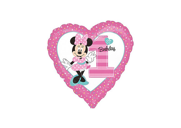 Minnie - 1st Birthday - Star - 19 inch/ 48cm - Anagram