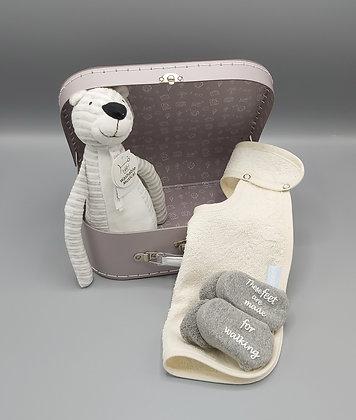 Cadeauset - BamBam koffertje met Panter Polo muziekmobiel