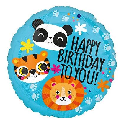 Happy birthday to you animals - 45cm
