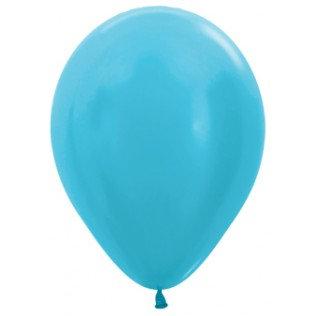Ballon Satin pearl caribbean blue - 30 cm