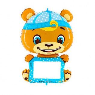 Folieballon boy bear personaliseerbaar - 114cm