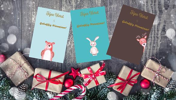 Kerstkaart Woodland & enveloppe