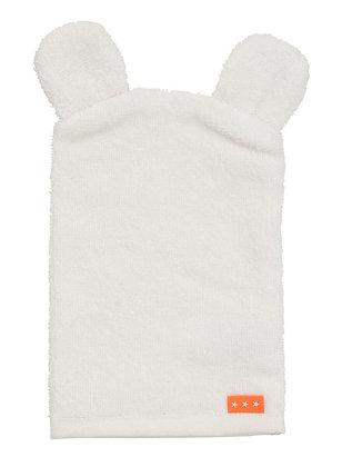 Baby washand met oortjes wit