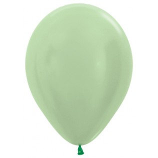 Ballon Satin pearl green - 30 cm