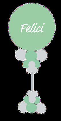 Ballonzuil met naam/tekst