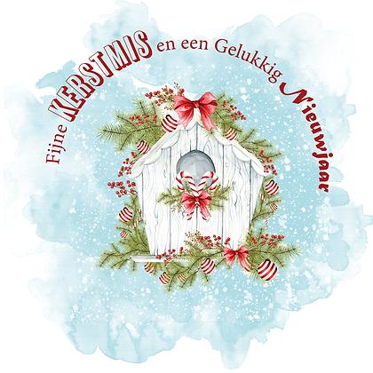 Kerstkaart Fijne Kerstmis & Gelukkig Nieuwjaar