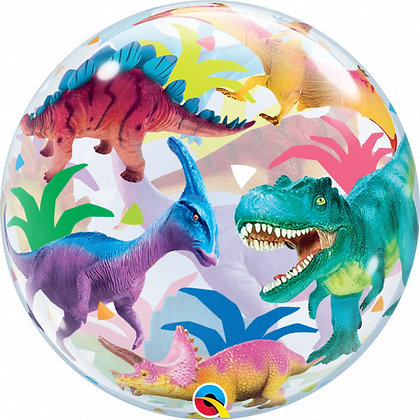 Qualatex - Dinosaurs - Single Bubble - 55cm