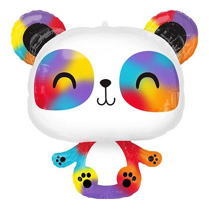 Anagram - folieballon - happy colourful panda -  60 cm